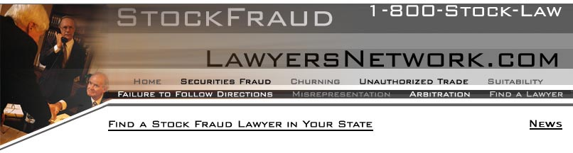 Welcome to the Stock Fraud Lawyers Network